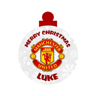Manchester Utd Acrylic Christmas Ornament Decoration